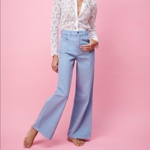 Nwt Zara true wide leg jeans